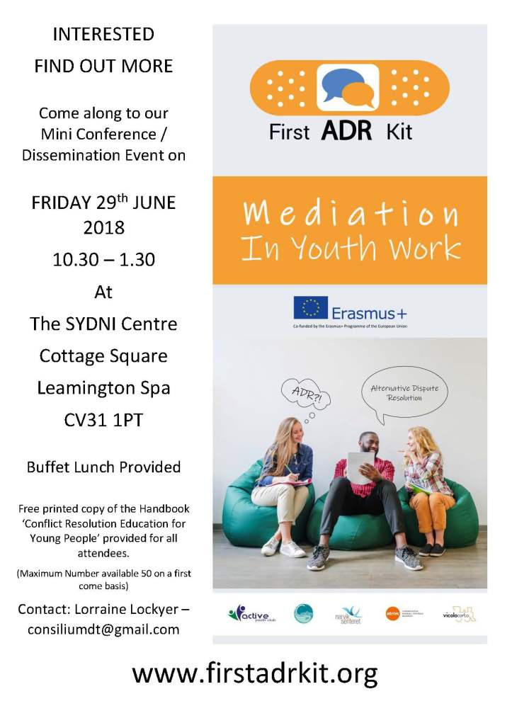 ADR event Flyer Leamington Spa